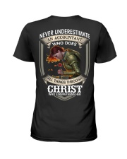 Never Underestimate  An Accountant Ladies T-Shirt back