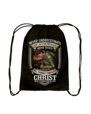 Never Underestimate  An Accountant Drawstring Bag thumbnail