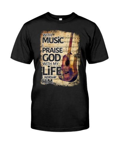 With Music I pray God Guitar