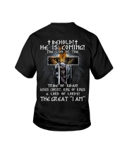 Behold He Is Comming Youth T-Shirt thumbnail