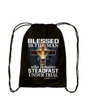 Blessed Is The Man Drawstring Bag thumbnail