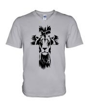 Lion Cross V-Neck T-Shirt thumbnail