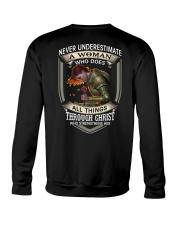 Never Underestimate a Woman Crewneck Sweatshirt thumbnail