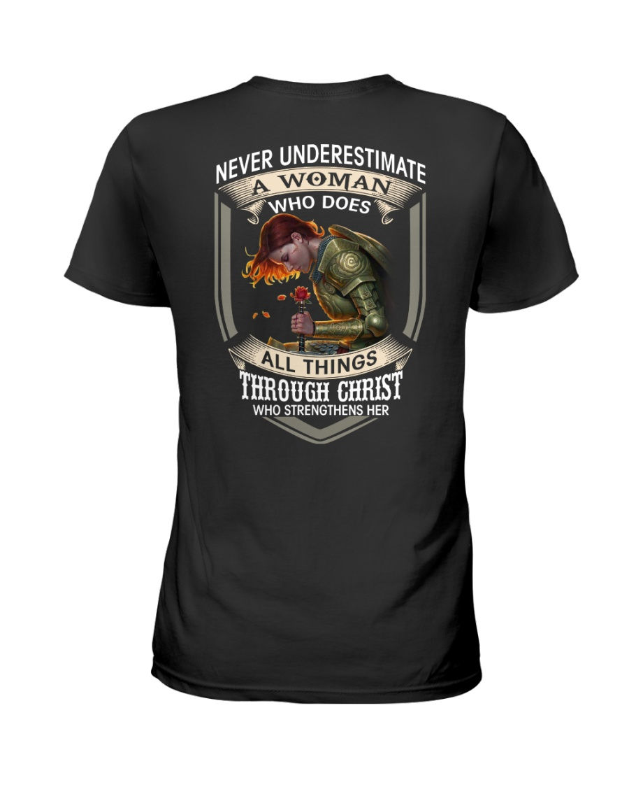 Never Underestimate a Woman Ladies T-Shirt