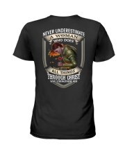 Never Underestimate a Woman Ladies T-Shirt back