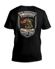 Never Underestimate a Woman V-Neck T-Shirt thumbnail