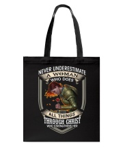 Never Underestimate a Woman Tote Bag thumbnail