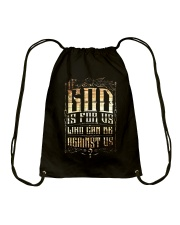 If God Is For Us Who Can Be Against Us Drawstring Bag thumbnail