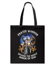 Prayer Warrior Wearing THe Whole Armor Of God Tote Bag thumbnail