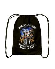 Prayer Warrior Wearing THe Whole Armor Of God Drawstring Bag thumbnail