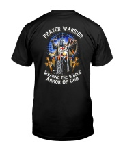 Prayer Warrior Wearing THe Whole Armor Of God Classic T-Shirt back