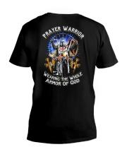 Prayer Warrior Wearing THe Whole Armor Of God V-Neck T-Shirt thumbnail