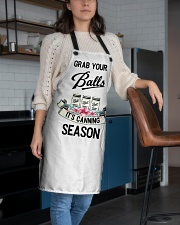 GRAB YOUR BALLS IT'S CANNING SEASON Apron aos-apron-27x30-lifestyle-front-02