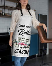 GRAB YOUR BALLS IT'S CANNING SEASON APRON Apron aos-apron-27x30-lifestyle-front-02