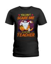 You Can't Scare Me I'm Retired Teacher Halloween Ladies T-Shirt thumbnail