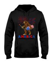 Bigfoot Sasquatch America Fireworks 4 Hooded Sweatshirt thumbnail