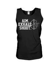 Archery T-Shirt - Aim Exhale Shoot B Unisex Tank thumbnail