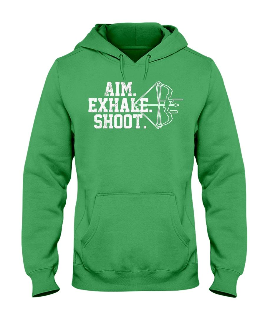 Archery T-Shirt - Aim Exhale Shoot B Hooded Sweatshirt