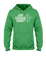 Archery T-Shirt - Aim Exhale Shoot B Hooded Sweatshirt front