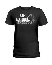 Archery T-Shirt - Aim Exhale Shoot B Ladies T-Shirt thumbnail