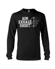 Archery T-Shirt - Aim Exhale Shoot B Long Sleeve Tee thumbnail