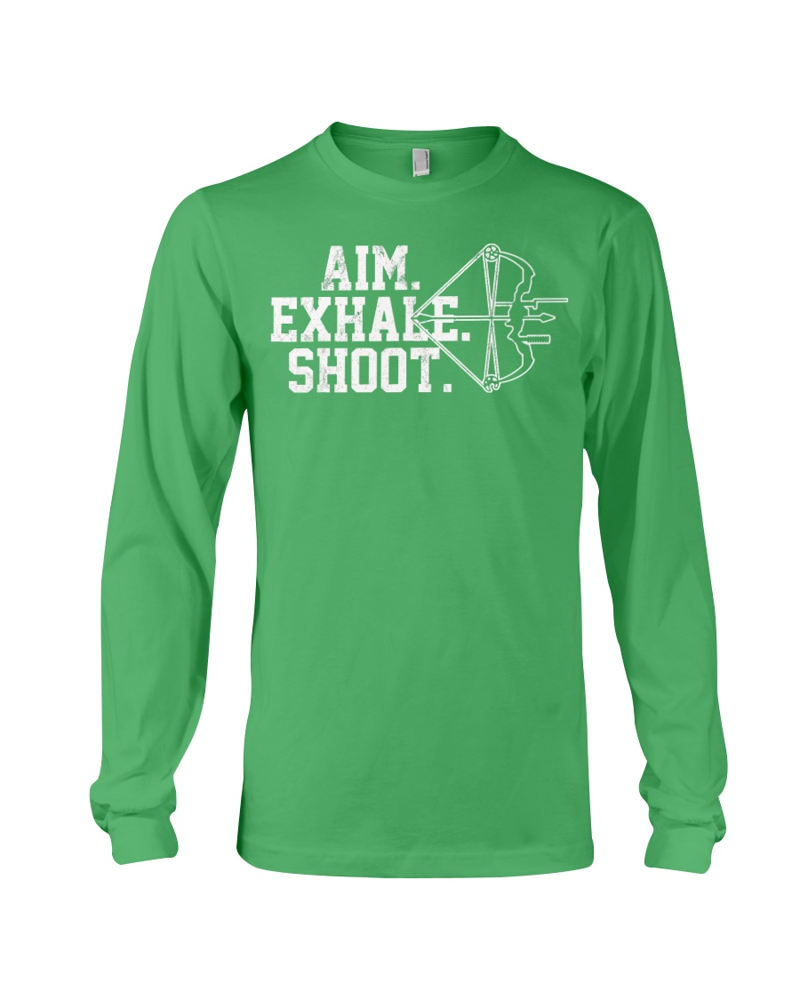 Archery T-Shirt - Aim Exhale Shoot B Long Sleeve Tee