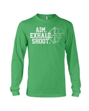 Archery T-Shirt - Aim Exhale Shoot B Long Sleeve Tee front