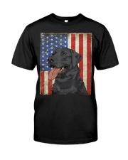 Black Labrador Retriever American  Classic T-Shirt front