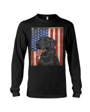 Black Labrador Retriever American  Long Sleeve Tee thumbnail