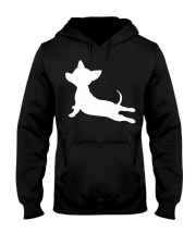 CHIWEENIE YOGA FITNESS GIFT Chihuah Hooded Sweatshirt tile
