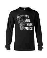 Love Pitbull  We Are Their Voice  Long Sleeve Tee thumbnail