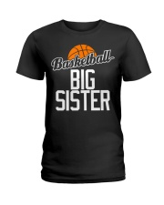 Basketball Big Sister Hoop Sport Gift  Ladies T-Shirt thumbnail