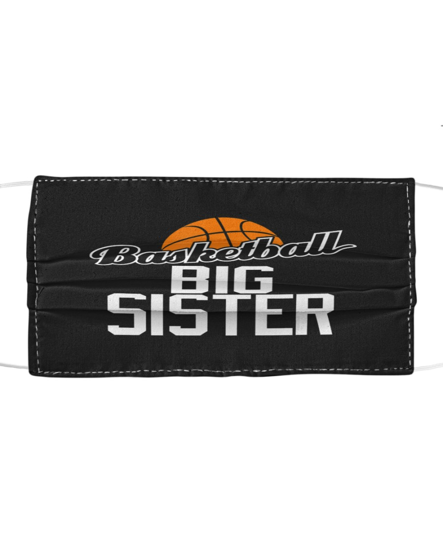 Basketball Big Sister Hoop Sport Gift  Cloth face mask