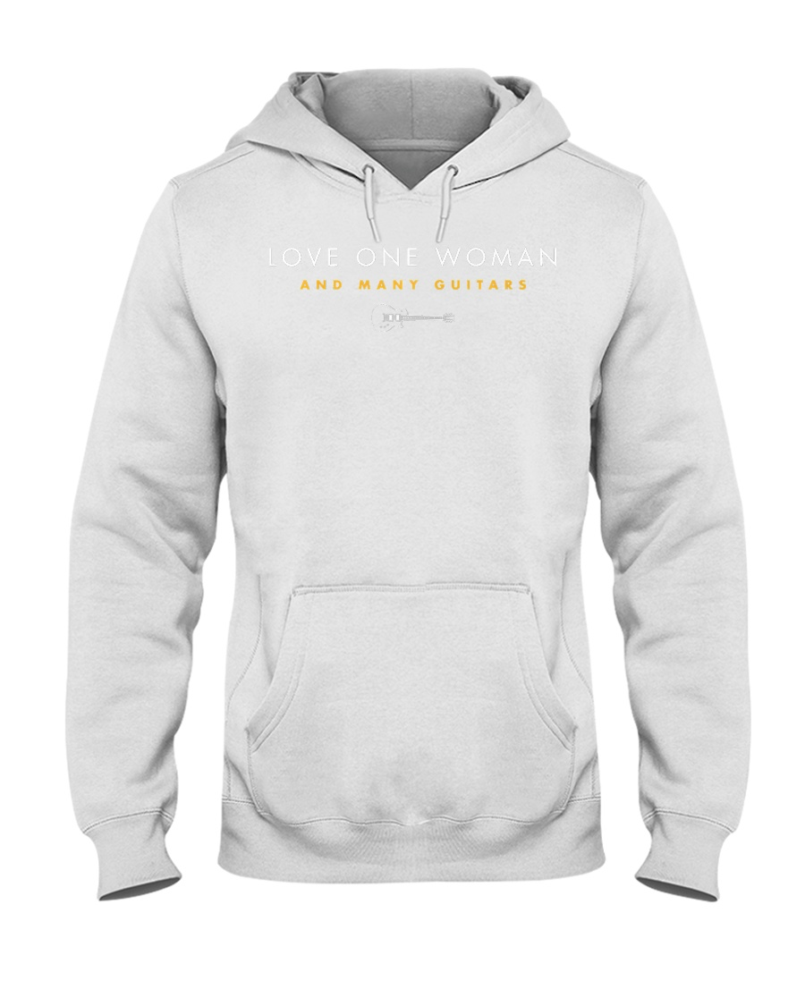 Guitar - Love One Woman and Many G Hooded Sweatshirt