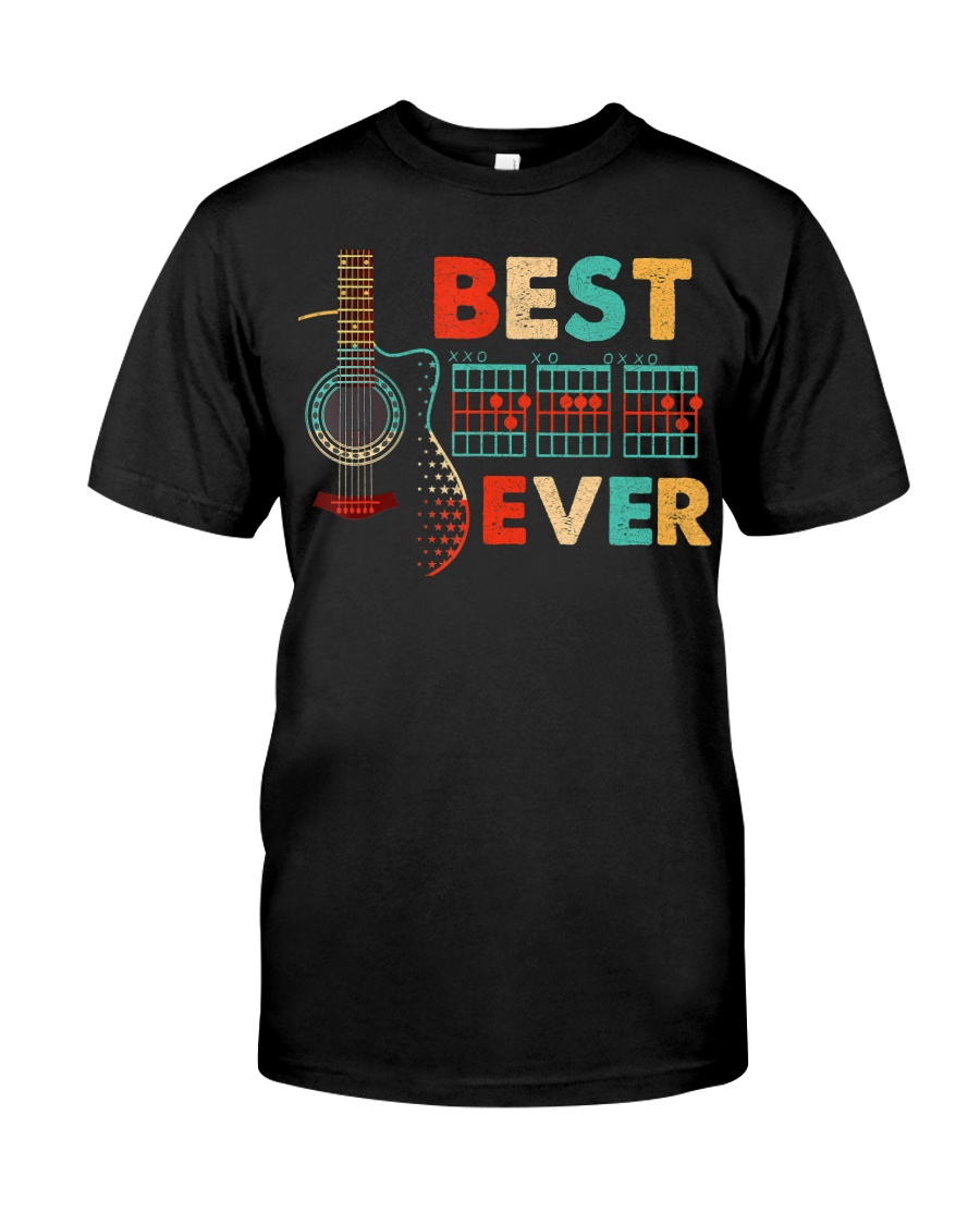 Dad Chords Best Dad Ever Guitar T-S Classic T-Shirt