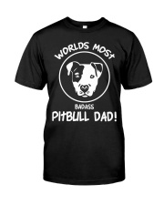 Bulldog fathers day Pitbull Dog Dad  Premium Fit Mens Tee tile