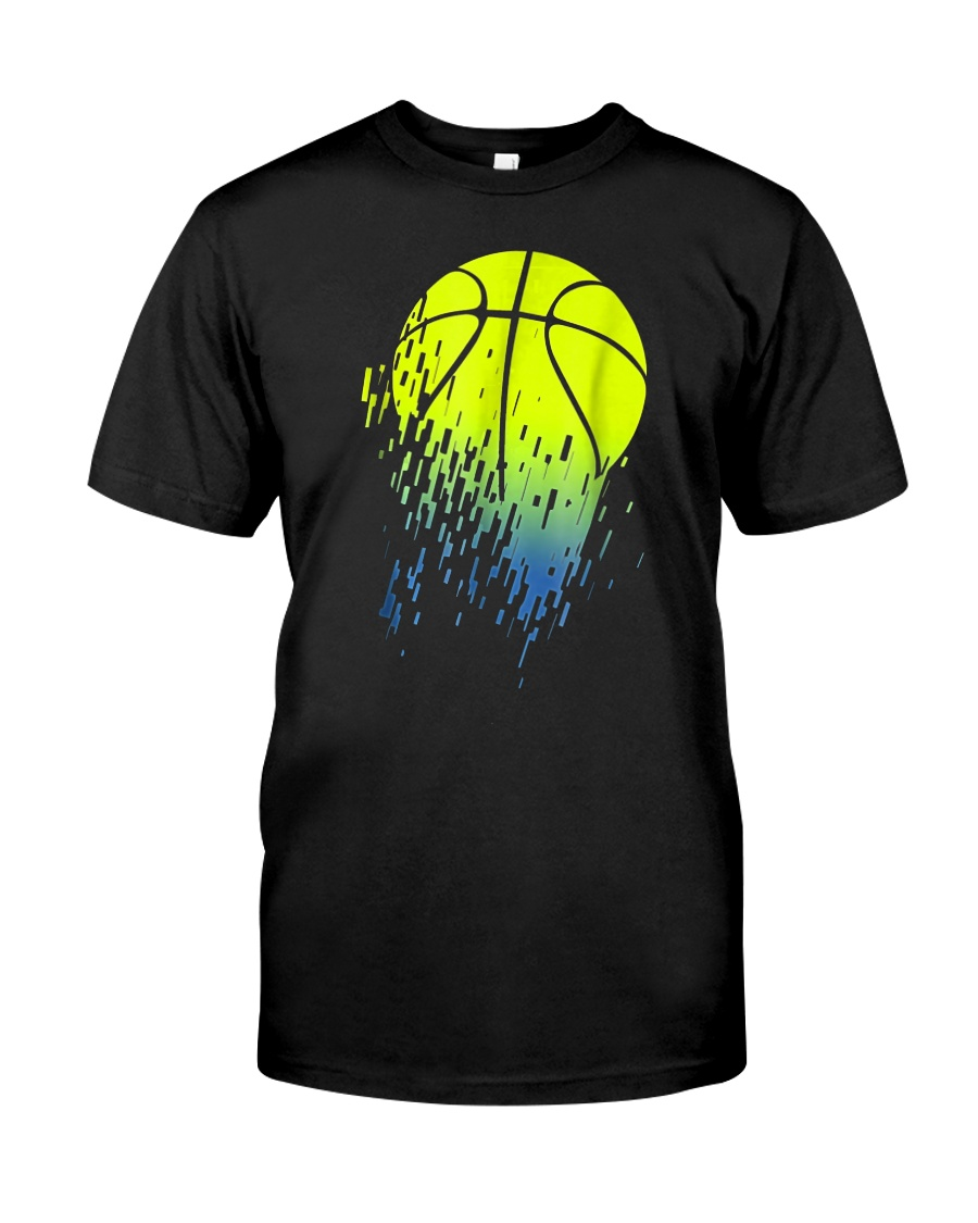 Disintegrating Neon Green Basketball Classic T-Shirt