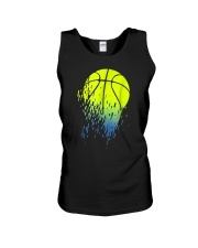 Disintegrating Neon Green Basketball Unisex Tank thumbnail