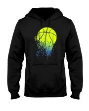 Disintegrating Neon Green Basketball Hooded Sweatshirt thumbnail