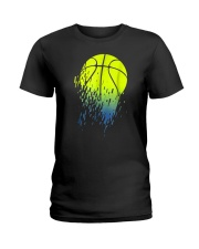 Disintegrating Neon Green Basketball Ladies T-Shirt thumbnail