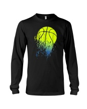 Disintegrating Neon Green Basketball Long Sleeve Tee thumbnail
