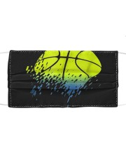 Disintegrating Neon Green Basketball Cloth face mask thumbnail