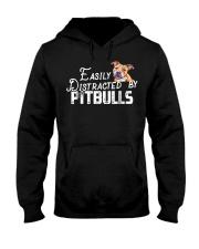Easily Distracted By Pitbulls Tshi Hooded Sweatshirt thumbnail