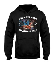Cannabis Marijuana Weed 4th Of July T- Hooded Sweatshirt thumbnail