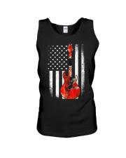 Bass Guitar American Flag USA Patriot Unisex Tank thumbnail