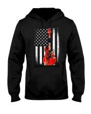 Bass Guitar American Flag USA Patriot Hooded Sweatshirt thumbnail