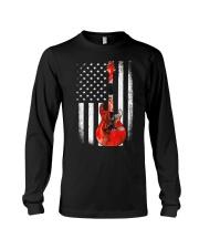 Bass Guitar American Flag USA Patriot Long Sleeve Tee thumbnail
