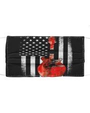 Bass Guitar American Flag USA Patriot Cloth face mask thumbnail