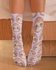 Sloth Crew Socks Crew Length Socks aos-accessory-crew-length-socks-lifestyle-front-02