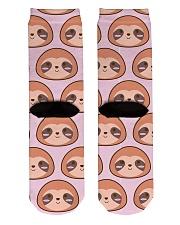 Sloth Crew Socks Crew Length Socks back
